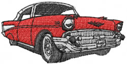 Chevy BelAir embroidery design