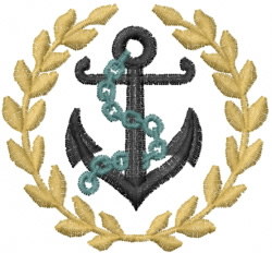 anchorwreath embroidery design
