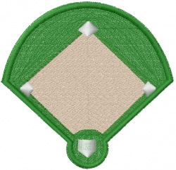 Ball Diamond embroidery design
