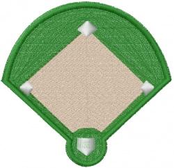 Ball Diamond embroidery design