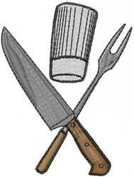 Chefs Tools embroidery design