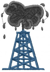 Oil Derrick embroidery design