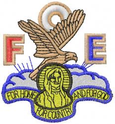 Fraternal Order Eagles embroidery design