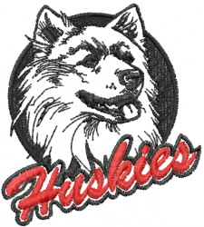 Huskies embroidery design