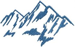 Mountain Name Drop embroidery design