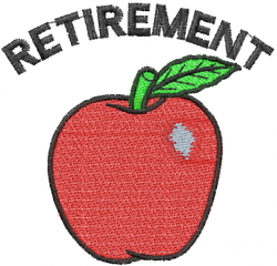 Lyns Emb Embroidery Design Teacher Retirement Inches