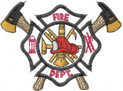 Fire Dept Crest embroidery design