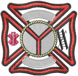 Fire Crest embroidery design
