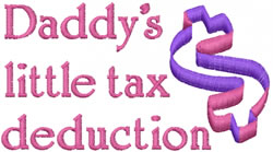 Tax Deduction embroidery design
