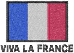 Viva La France embroidery design