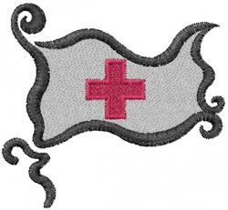 Red Cross Flag embroidery design