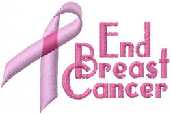 End Breast Cancer embroidery design