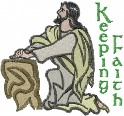 jesus pray faith embroidery design