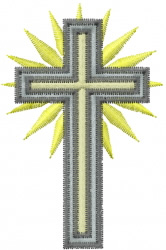 Cross tall embroidery design