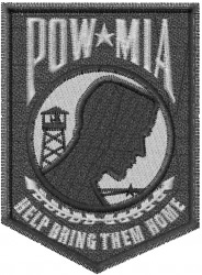 POW MIA embroidery design
