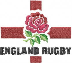 England Rugby embroidery design