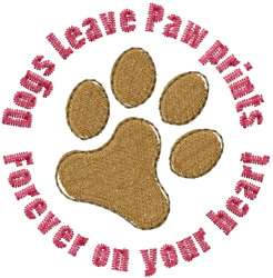 Dogs Paw Print embroidery design