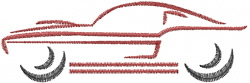 Classic Sports Car embroidery design