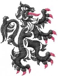 Heraldic Lion embroidery design