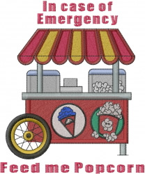 Concession Stand embroidery design