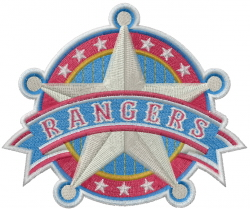 Texas Rangers embroidery design