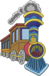 Christmas Train embroidery design