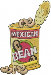Mexican Bean Can embroidery design