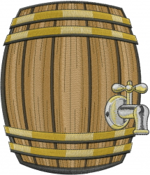 Beer Keg embroidery design