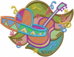 Fiesta Mexicana embroidery design
