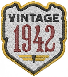 Vintage 1942 embroidery design