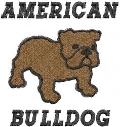 Bulldog-American Bulldog embroidery design