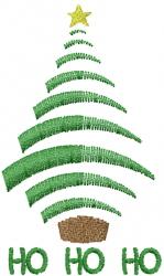 Ho Ho Ho Tree embroidery design
