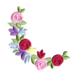 Bullion Flower Corner embroidery design