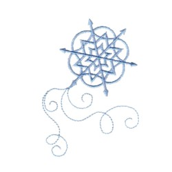 Arrow Snowflake embroidery design
