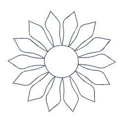 Quilting Outline Embroidery Designs : Needle Passion Embroidery Embroidery Design: Sunflower Quilt Outline 3.82 inches H x 3.82 inches W