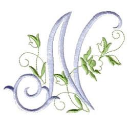 N Alphabet Design Script N embroidery design