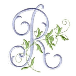 R Alphabet Design Script R embroidery design