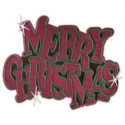 Merry Christmas Sparkle embroidery design