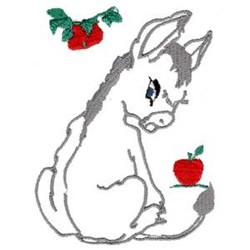 Donkey embroidery design