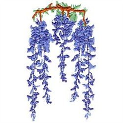 Wisteria embroidery design
