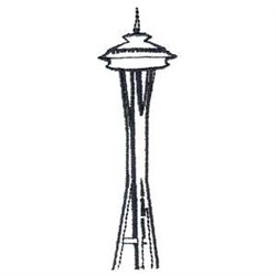 coloring pages space needle - photo#10