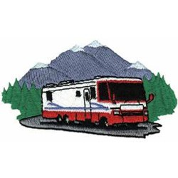 Perfect RV Motorhome Applique  Instant Download  For Embroidery Machines