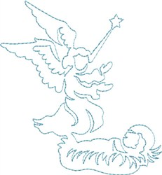 Angel Quilt Outline embroidery design