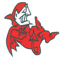 Red Devil embroidery design
