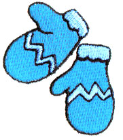 Winter Mittens embroidery design