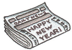 Newspaper embroidery design