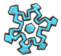 Winter Snowflake embroidery design