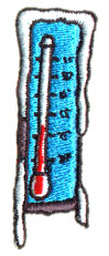 Thermometer embroidery design