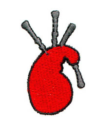 Bagpipes embroidery design