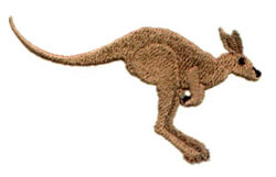 Kangaroo embroidery design